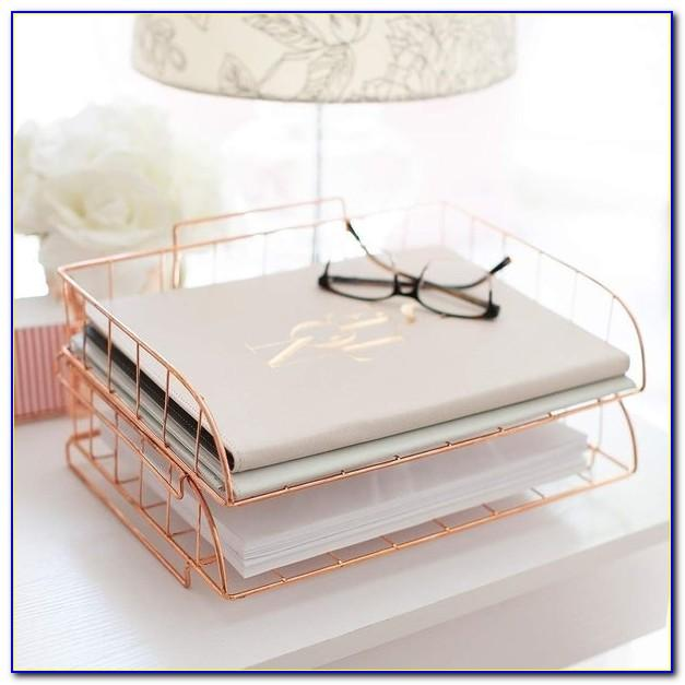Gold Mesh Letter Tray