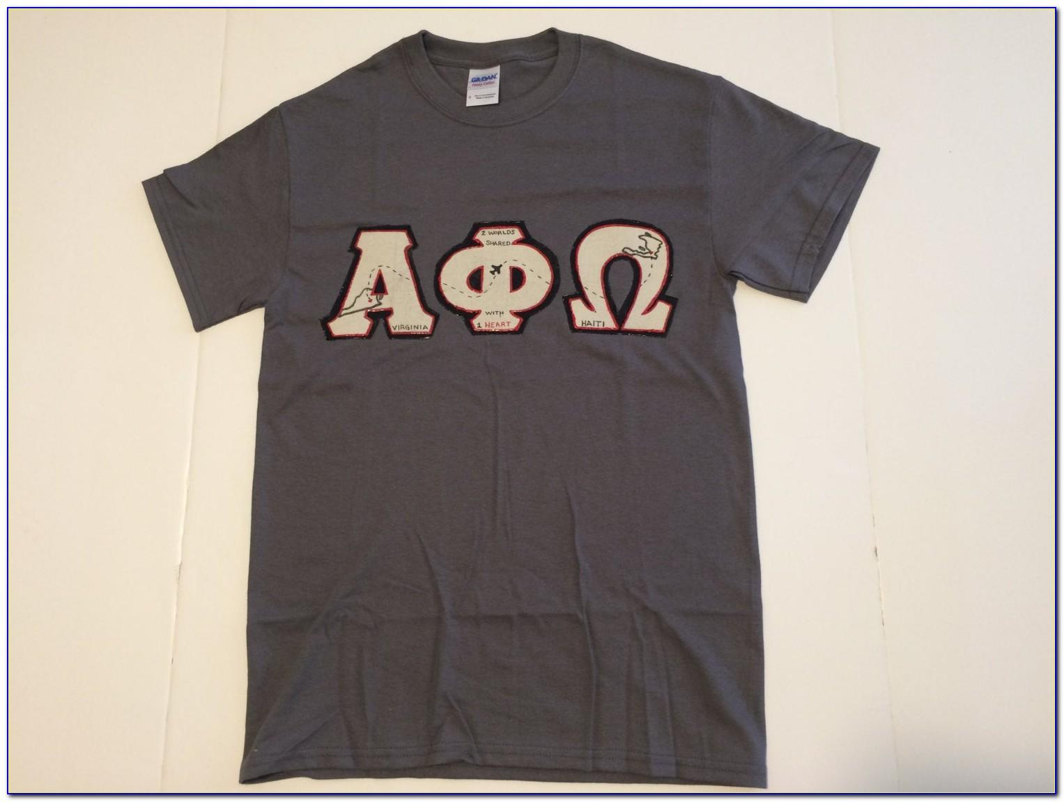 Greek Letters Shirts