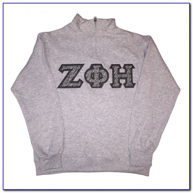 Greek Stitched Letter Sweatshirts
