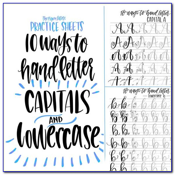 Hand Lettering Practice Sheets Free