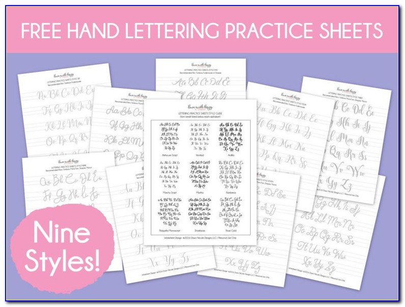 Hand Lettering Practice Sheets Pdf Free