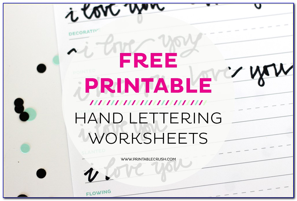 Hand Lettering Practice Sheets Printable