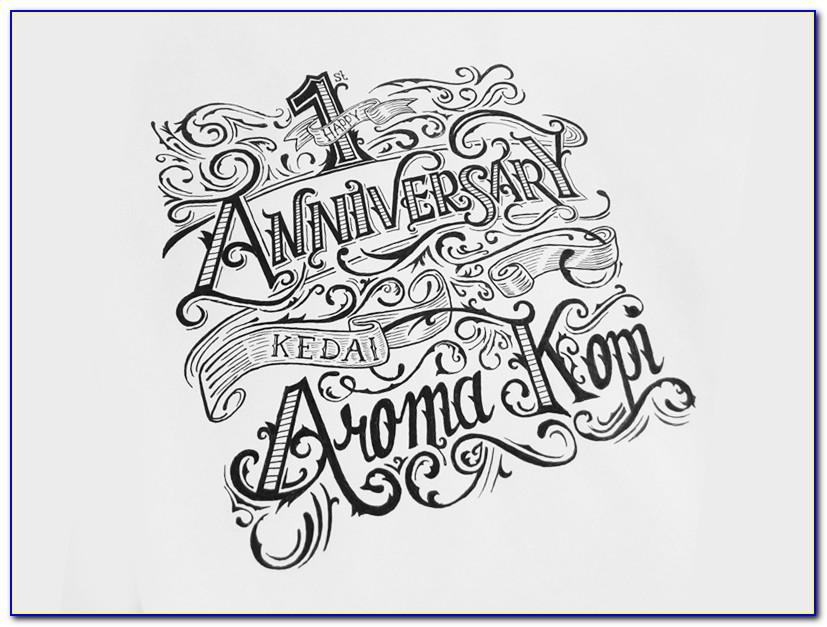 Happy 2nd Anniversary Lettering