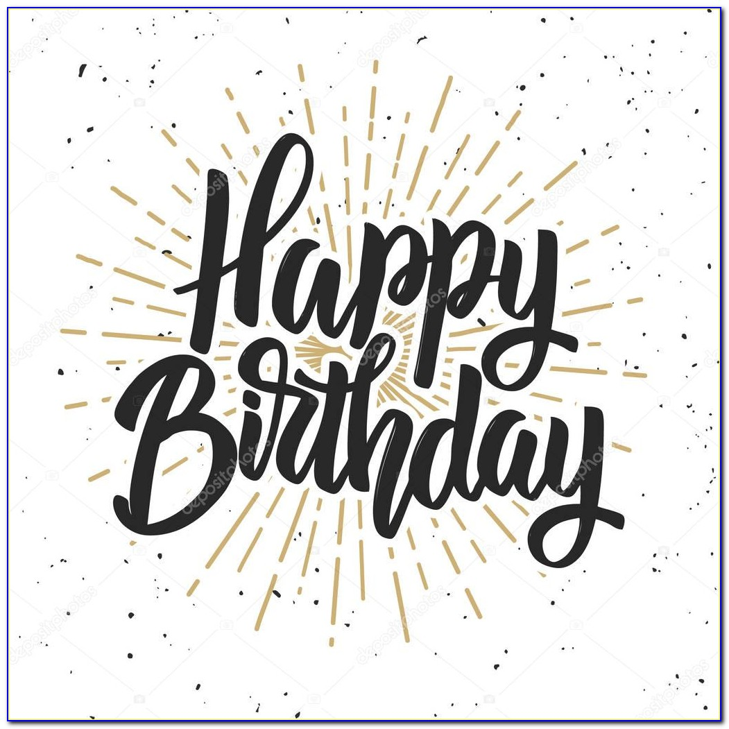Happy Birthday Hand Lettering Card