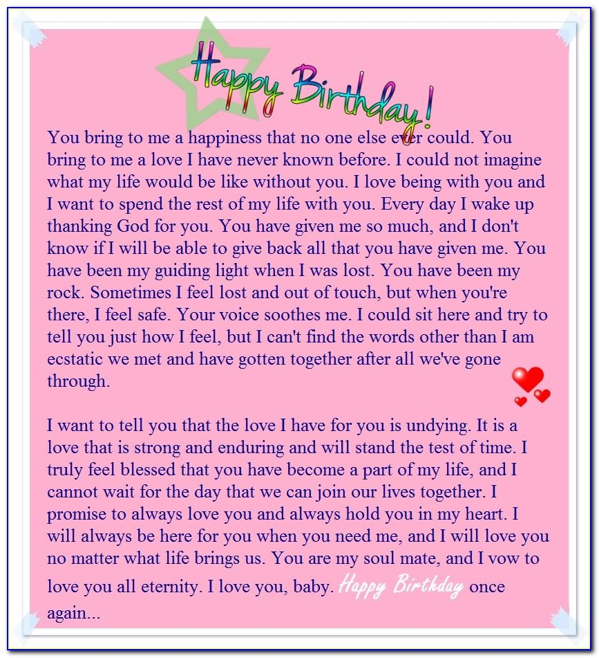 Happy Birthday Letter To Girlfriend In Hindi