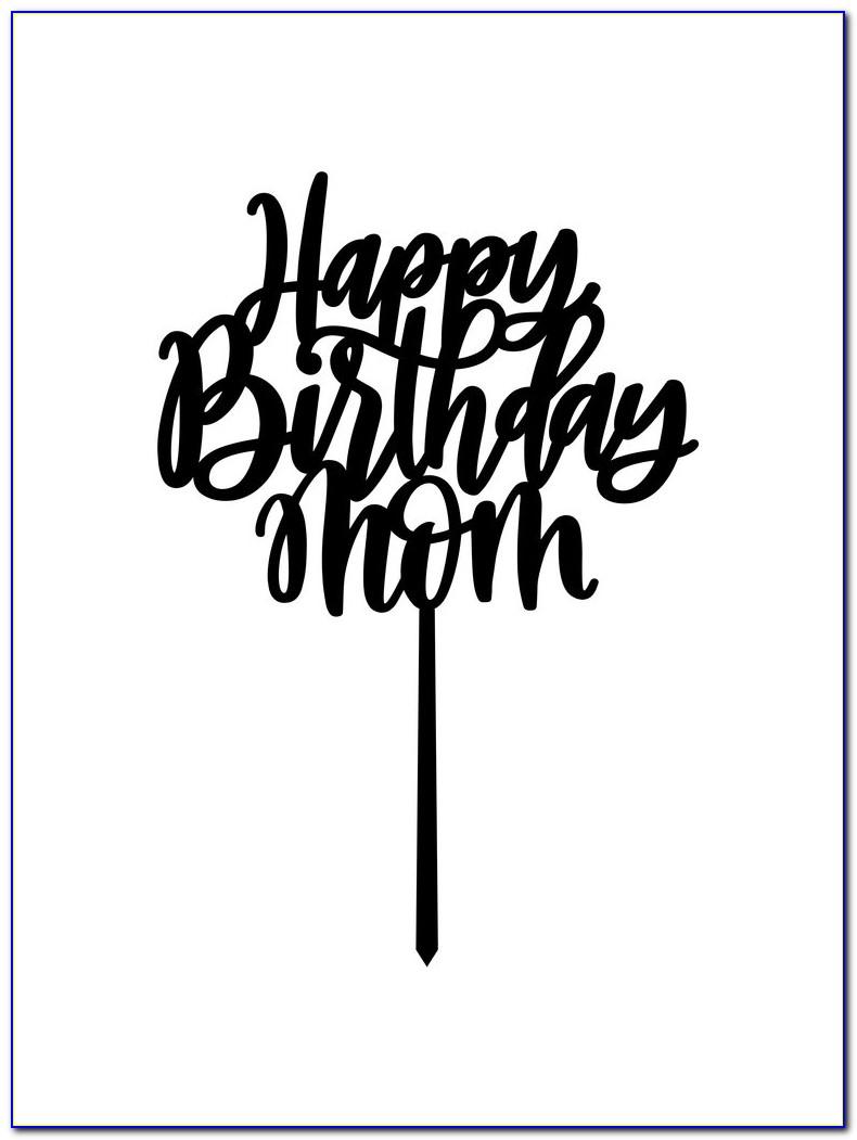 Happy Birthday Schriftzug Hand Lettering