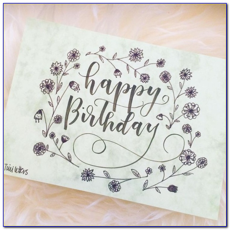 Happy Birthday To You Hand Lettering