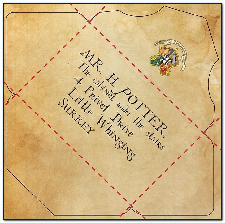 Harry Potter Letter Template Envelope