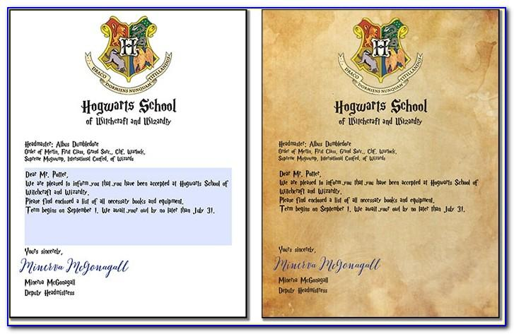 Harry Potter Letter Templates