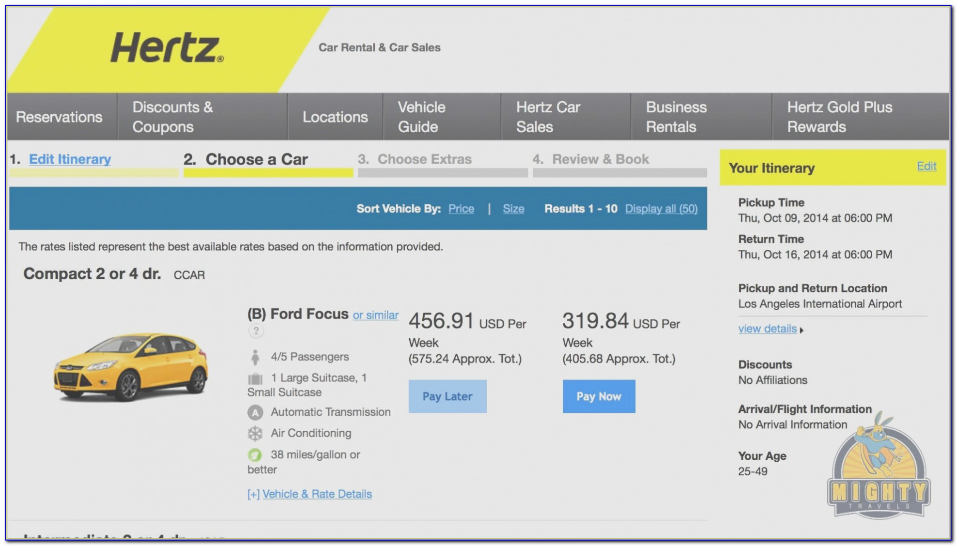 Hertz Invoice Usa