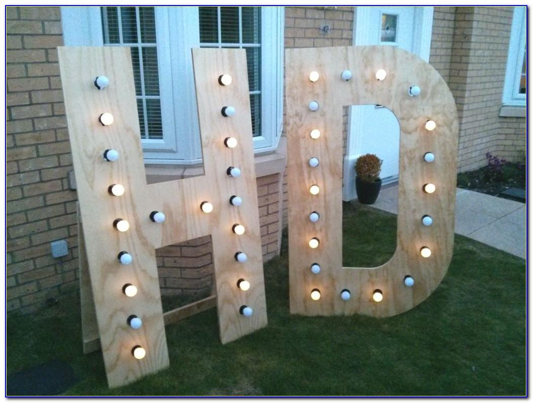 Hobby Lobby Big Light Up Letters
