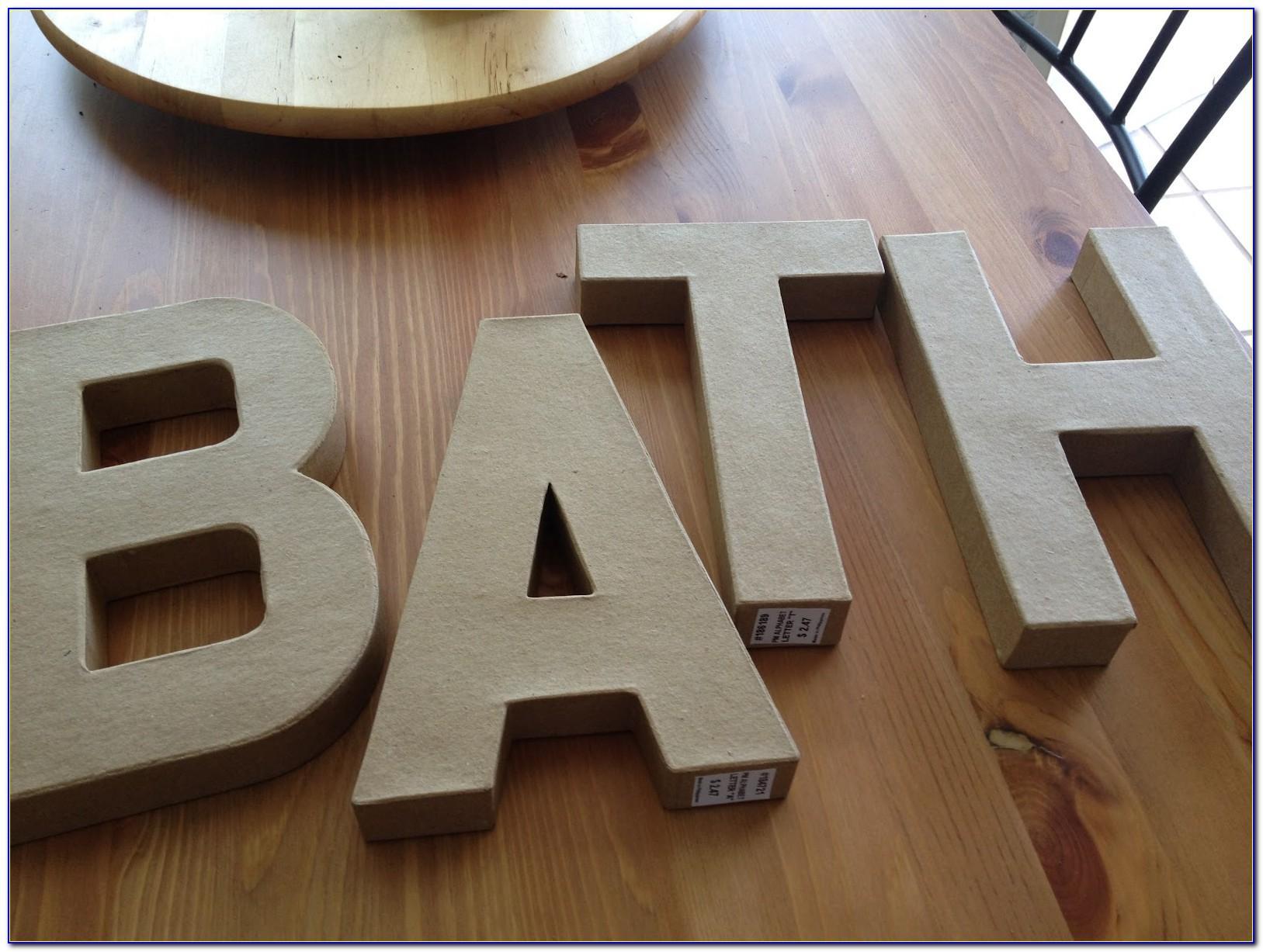 Hobby Lobby Cardboard Letters