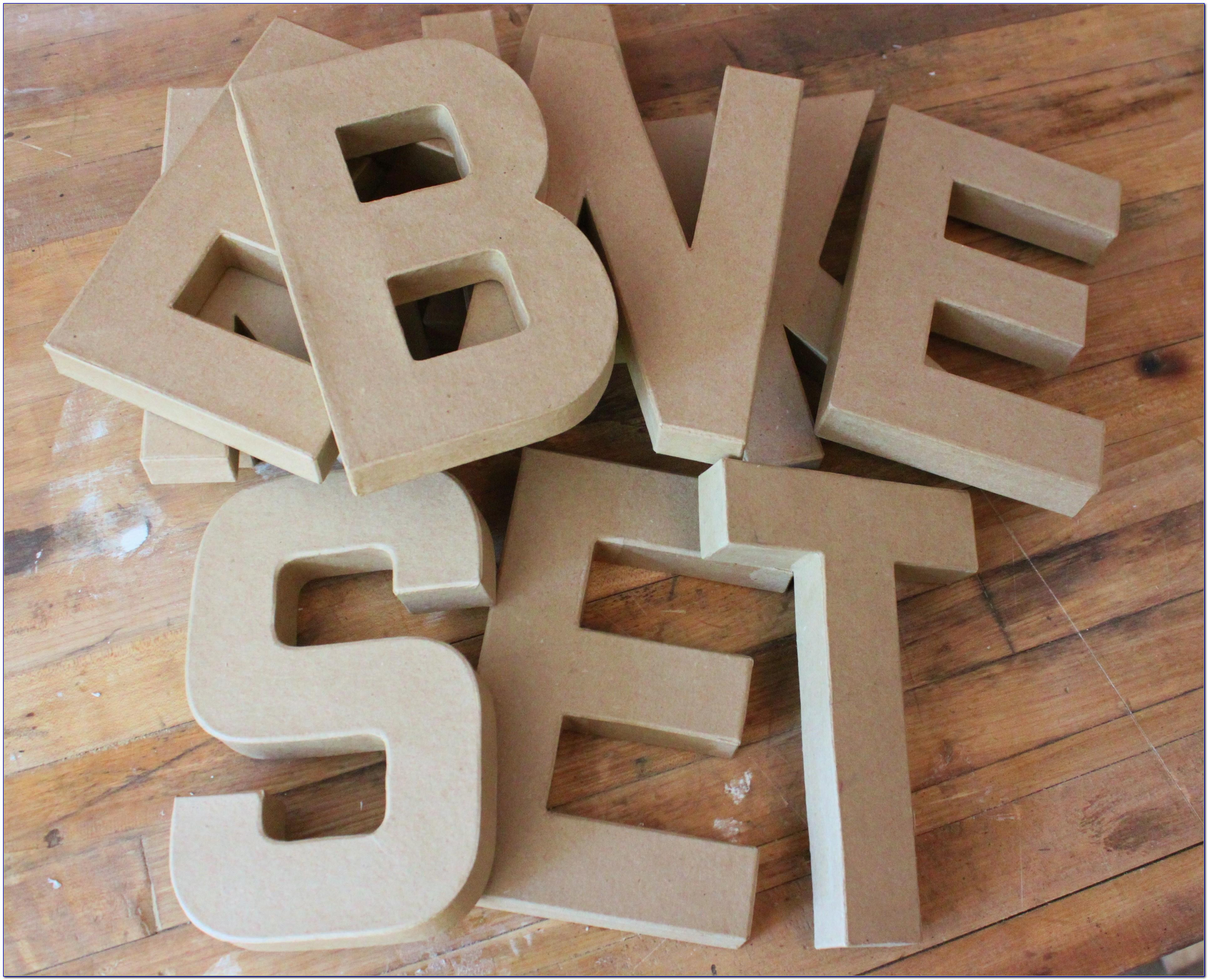 Hobby Lobby Large Cardboard Letters