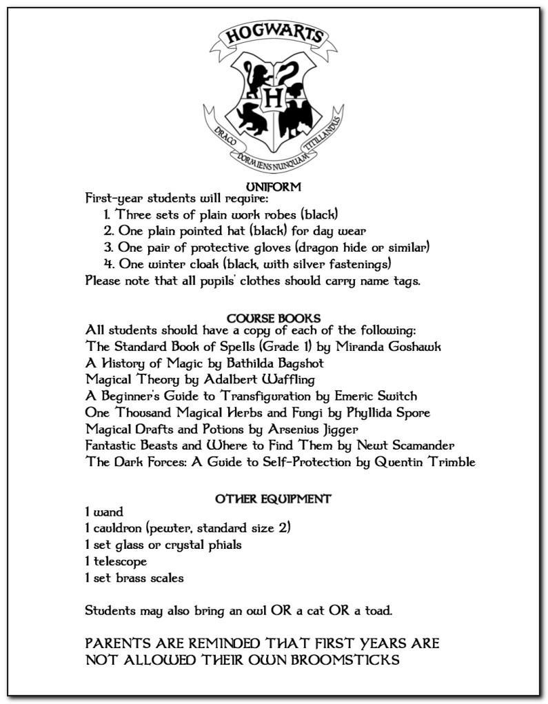 Hogwarts Letter Printables