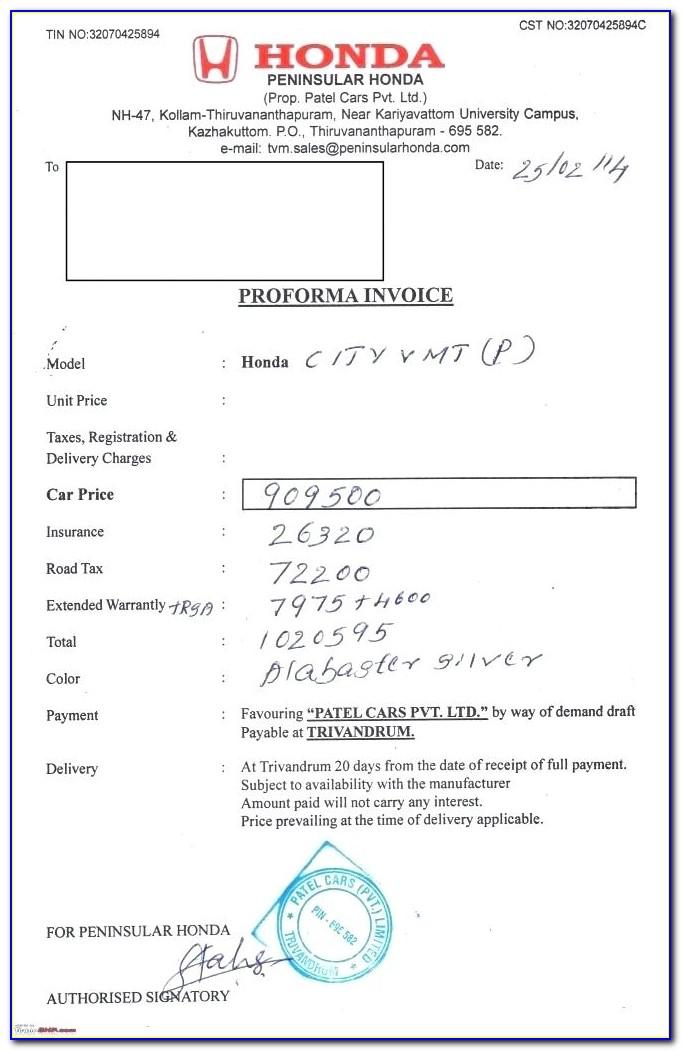 Honda Civic Invoice Rate