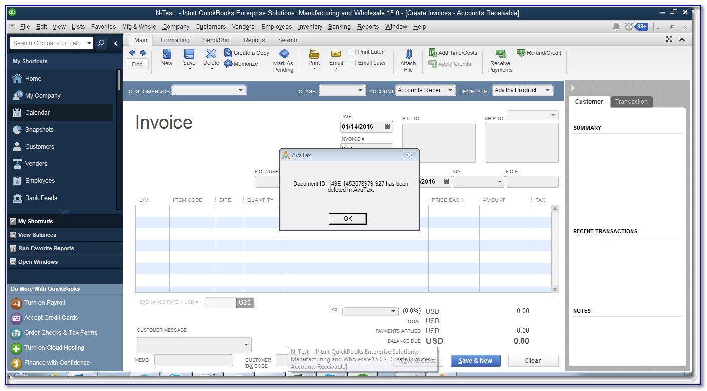 How Do You Void An Invoice In Quickbooks Online