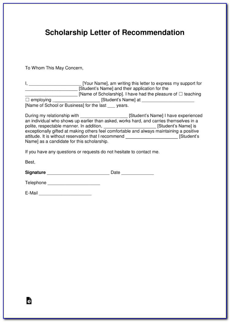 How To Write A Scholarship Recommendation Letter From Friend
