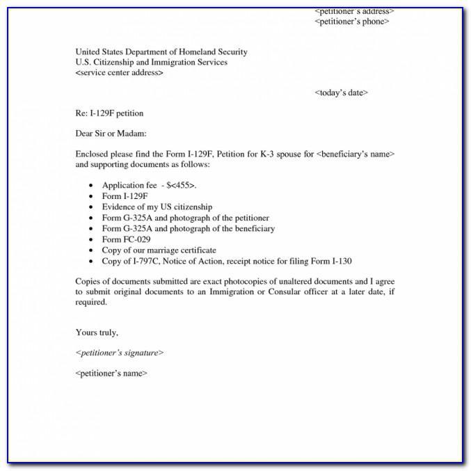 I 129f Cover Letter 2018
