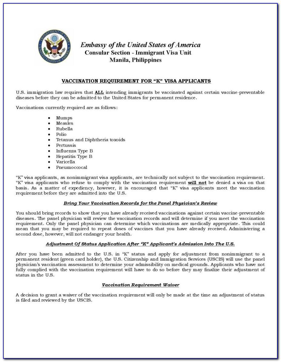 I 129f Cover Letter Address Of Filing Location