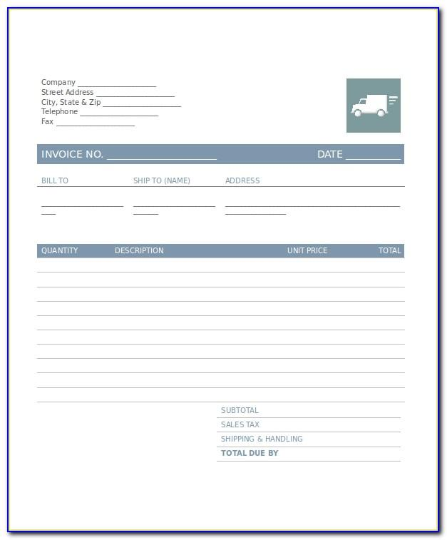 Invoice Template For Transport Company