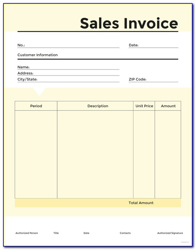 Invoice Template Word Sample