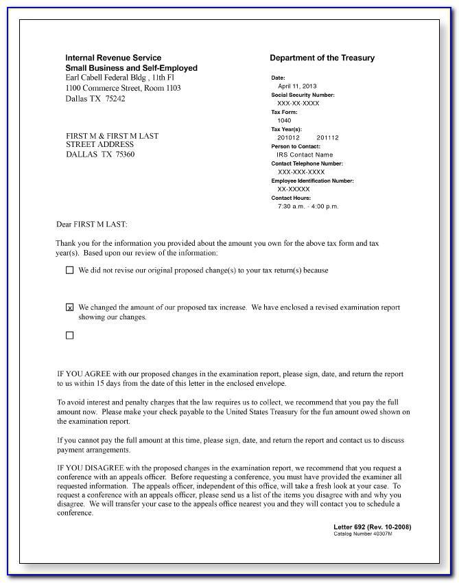 Irs Audit Engagement Letter Sample