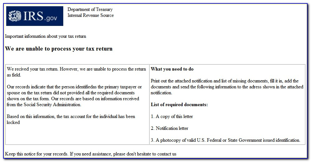 Irs Letter 4883c 2018