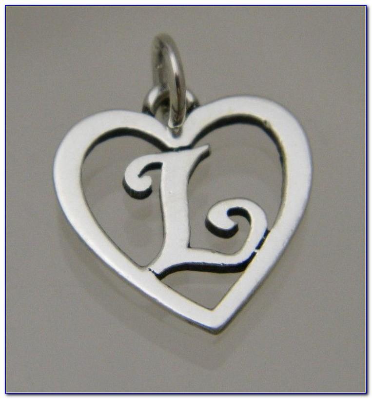 James Avery Letter Pendant Necklace