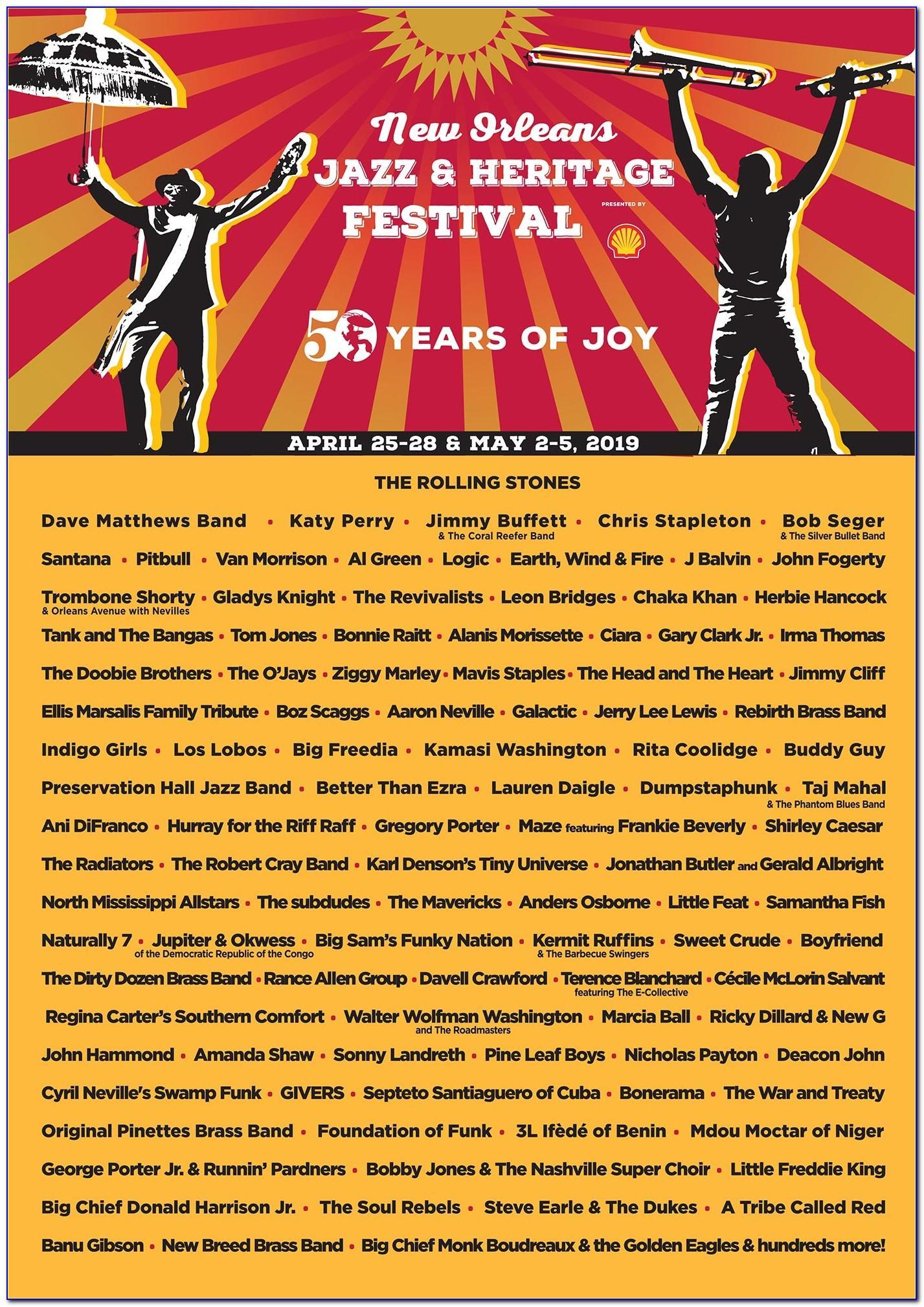 Jazz Fest Lineup Announcement 2019 Tickets