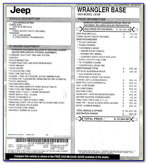 Jeep Grand Cherokee Factory Invoice Price