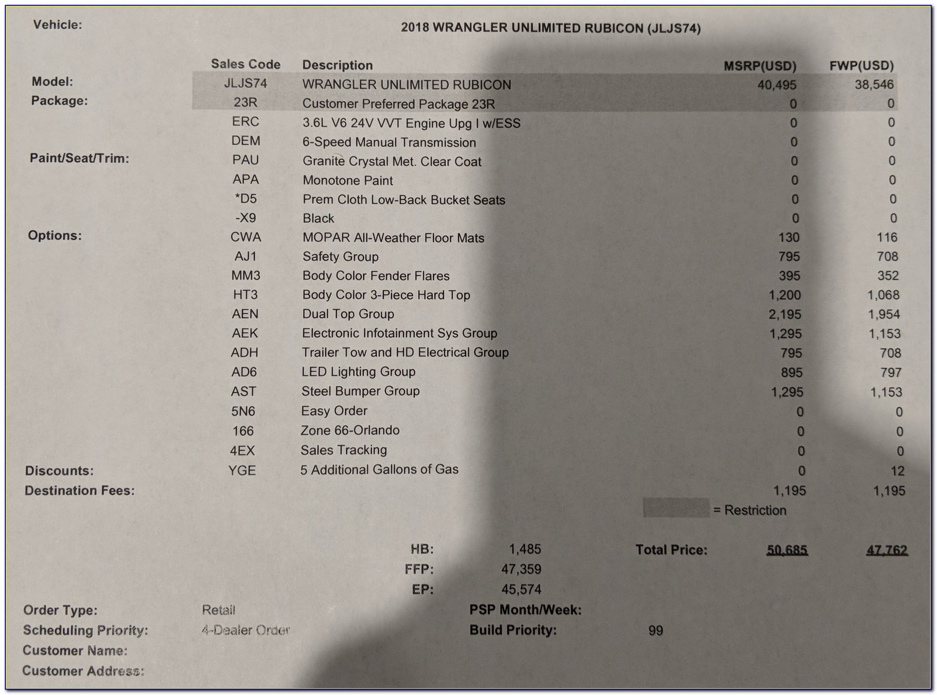 Jeep Wrangler Jl Invoice Pricing