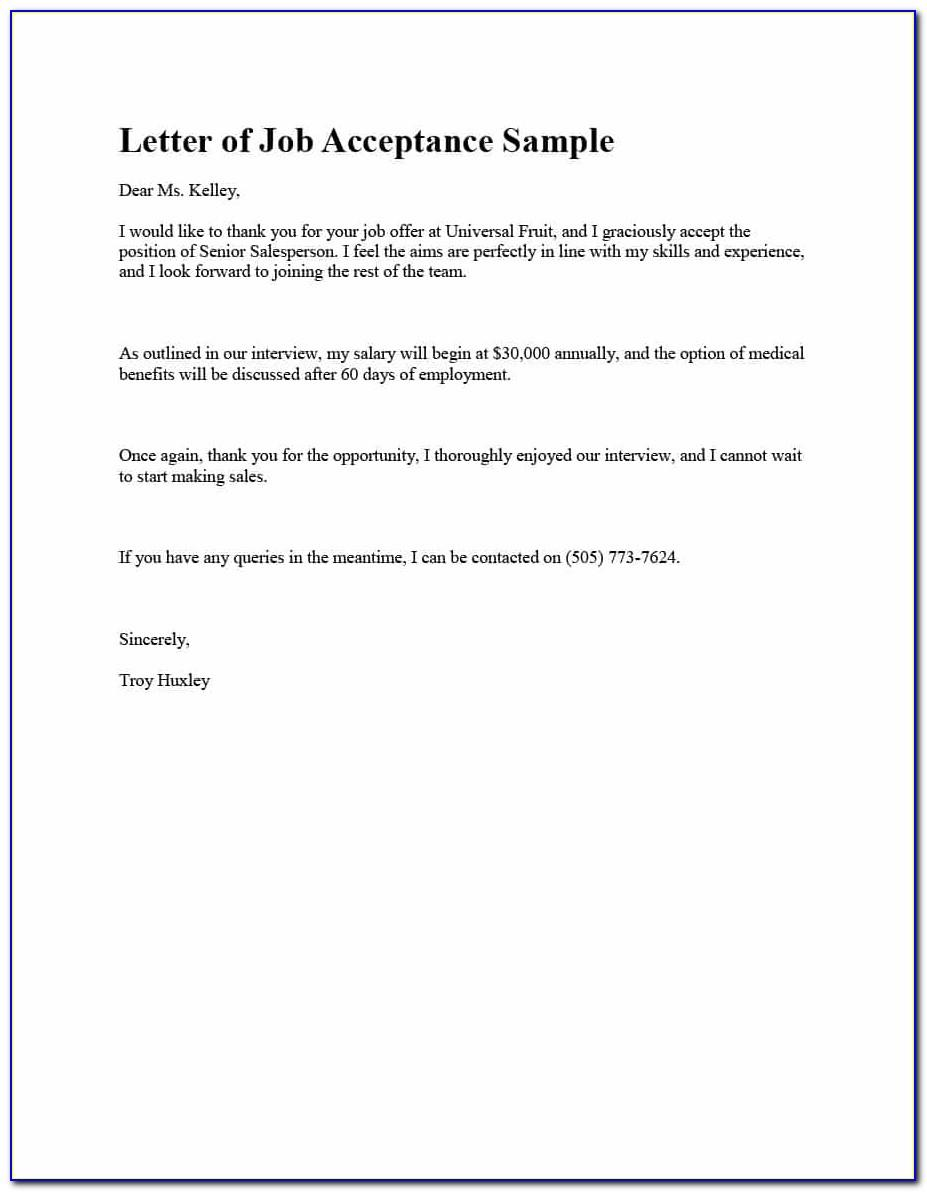 Job Offer Negotiation Letter Sample Pdf