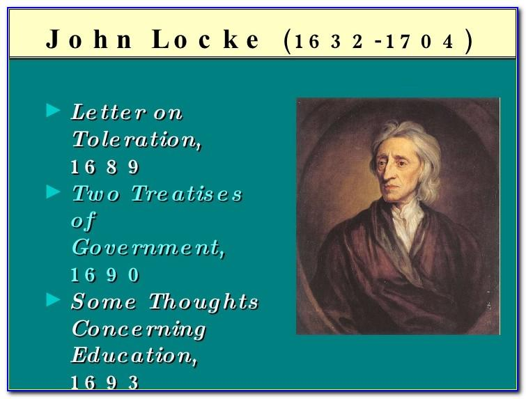 John Locke The Second Treatise Of Government And A Letter Concerning Toleration