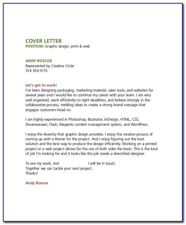 Junior Graphic Design Cover Letter Examples