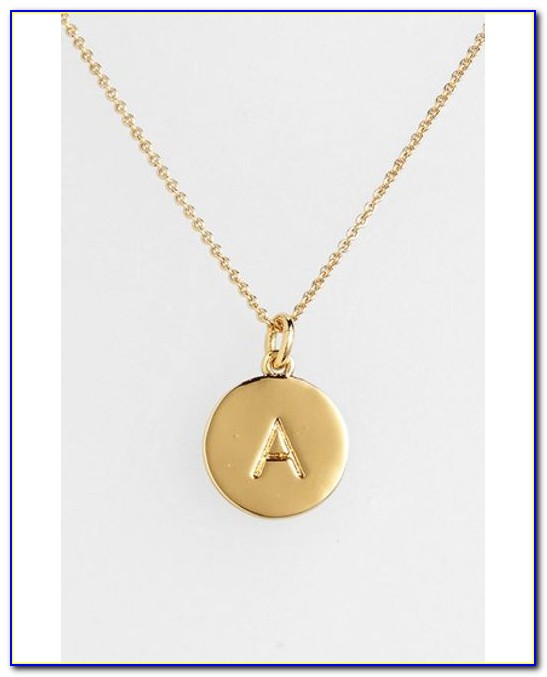 Kate Spade Letter Necklace Canada