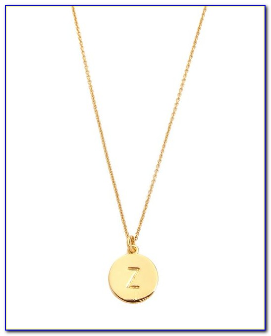 Kate Spade Letter Necklace Gold