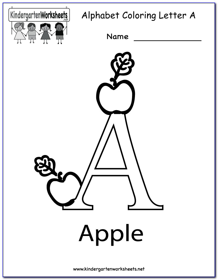 Kindergarten Letter Worksheets Free