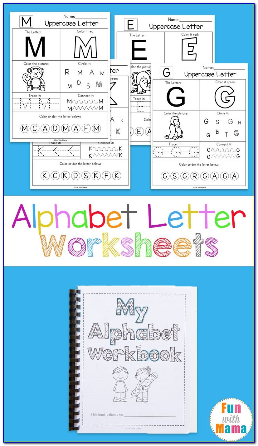 Kindergarten Letter Worksheets Writing