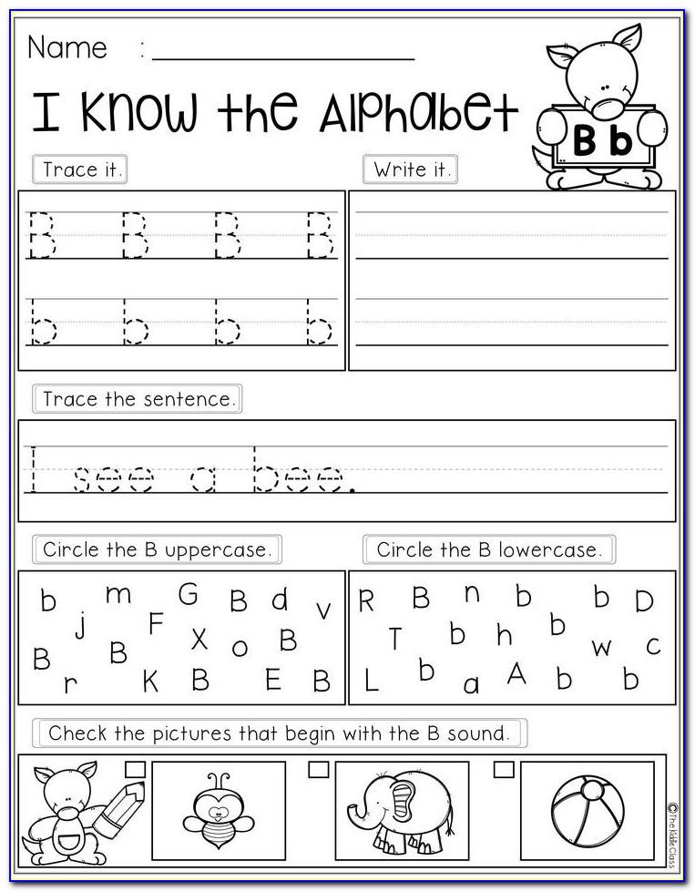 Kindergarten Letters Worksheets