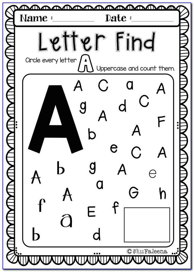 Kindergarten Worksheets Letter D