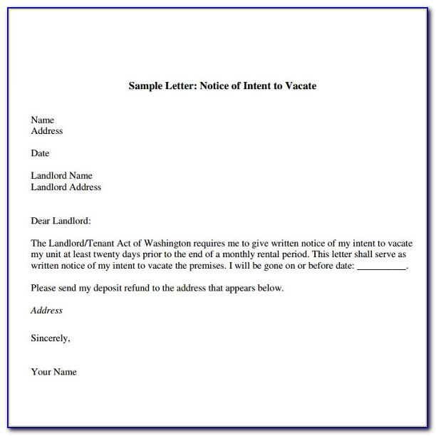 Landlord Notice To Vacate Letter India