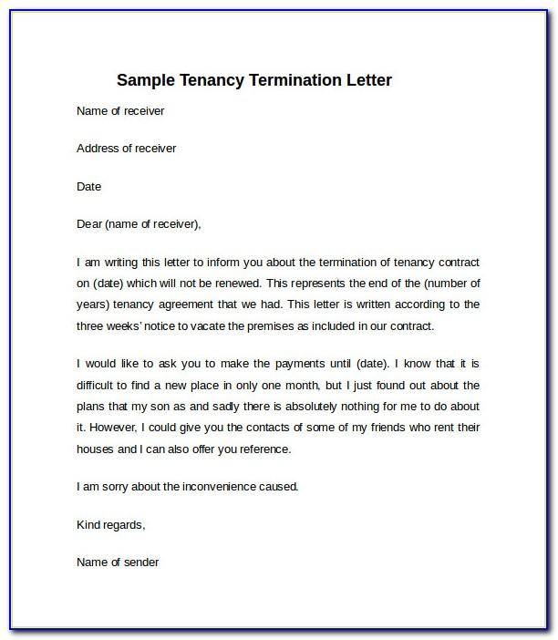 Landlord Notice To Vacate Letter South Africa