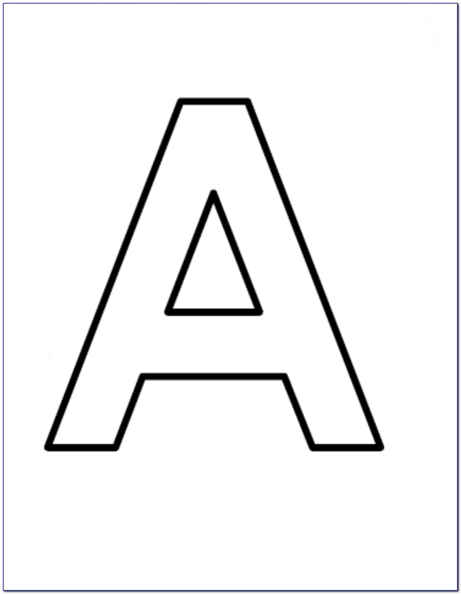 Large Block Letter Stencils
