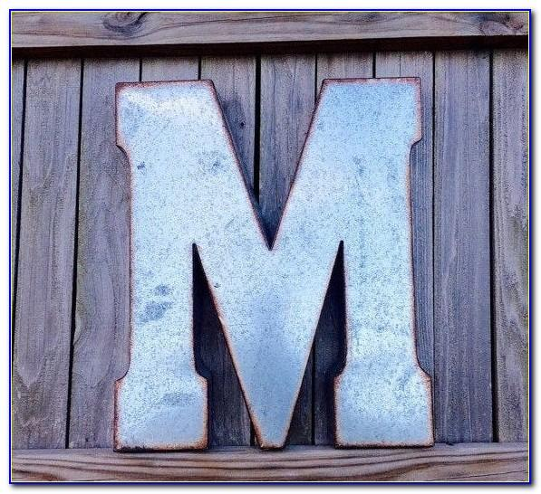 Large Metal Alphabet Letters For Wall