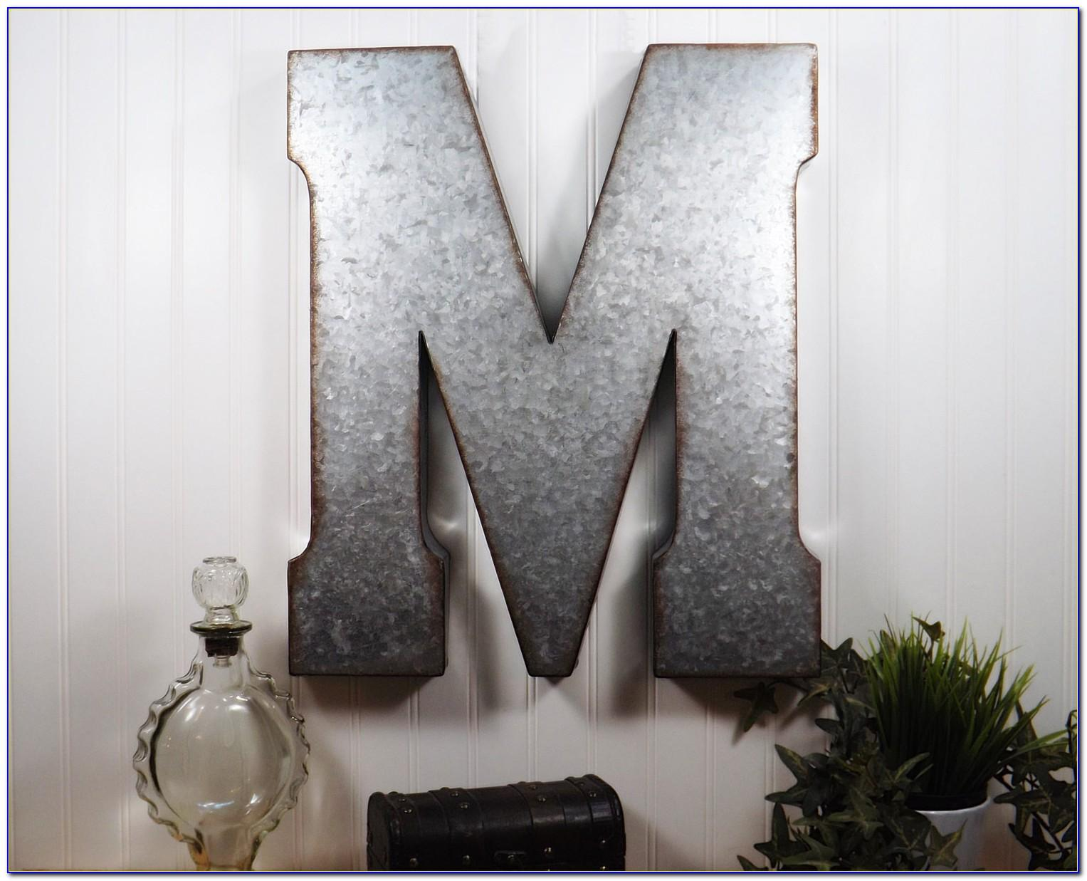 Large Metal Letter Wall Decor