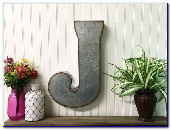 Large Metal Monogram Letters For Wall