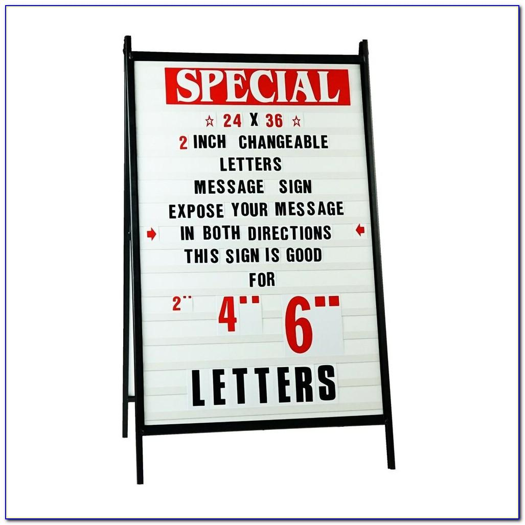 Large Outdoor Changeable Letter Signs