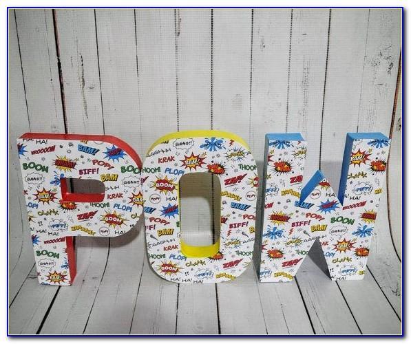 Large Paper Mache Letters 50cm