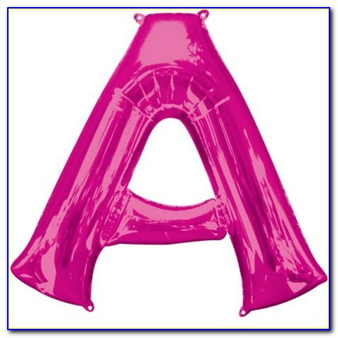 Large Pink Letter Balloons