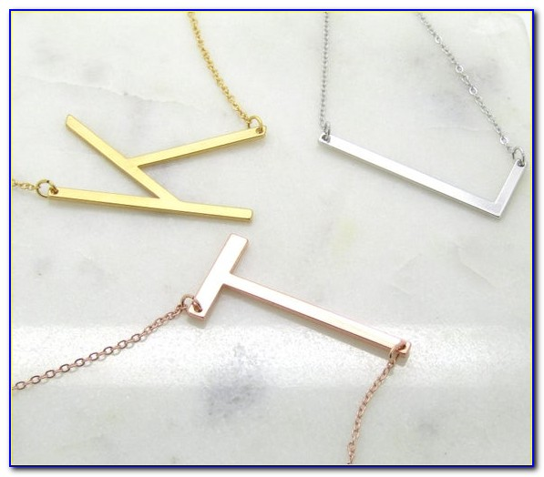 Large Sideways Letter Necklace